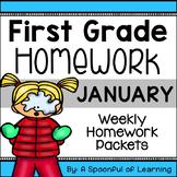 First Grade Homework - January