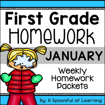 First Grade Homework - January