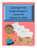First Grade Homework Journeys Lesson 23 Whistle for Willie