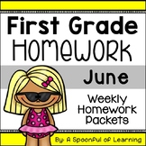 First Grade Homework - June