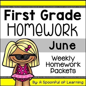 First Grade Homework - June