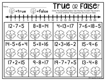 First Grade Homework - March