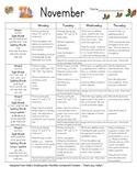 First Grade Homework - November - Supports SRA Imagine It! & EnVision Math