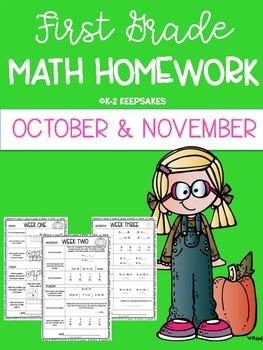 First Grade Homework OCTOBER/ NOVEMBER