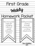First Grade Homework Packet