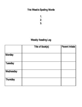 First Grade Homework Packet (Differentiated)