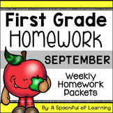 First Grade Homework - September