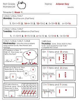 First Grade Homework-Trimester 2