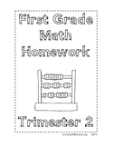 First Grade Homework-Trimester 2