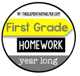 First Grade Homework {Year-Long Daily Assignments}