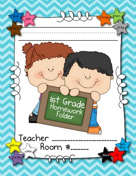First Grade Homework and Classwork Folder Resources