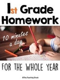 First Grade Homework for the Whole Year