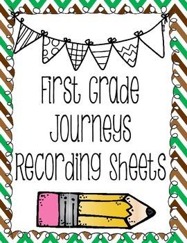 First Grade Houghton Mifflin Journeys Recording Sheets/Responses
