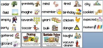 First Grade Houghton Mifflin Reading Series Focus Wall Set-Theme 9