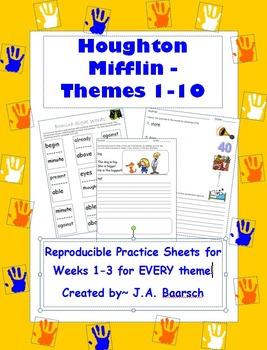 First Grade Houghton Mifflin Reproducibles Themes 1-10