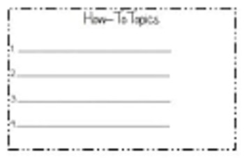 First Grade How To wring topic list