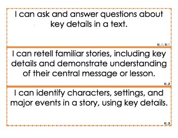 First Grade I CAN Statements--ALL Subjects