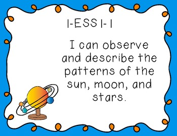 "First Grade ""I Can"" Printables for the Next Generation Science Standards (NGSS)"