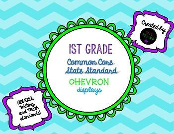 "First Grade ""I Can"" Standard Chevron Displays"