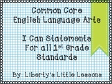 First Grade I Can Statements-ELA