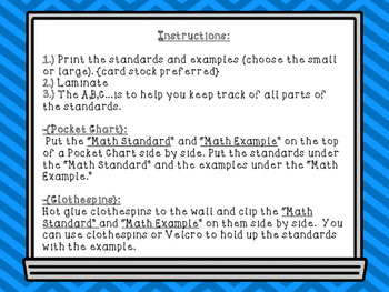 """First Grade """"I Can"""" Statements {ELA and Math} Bundle"""