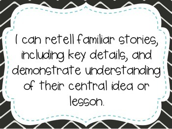 """First Grade """"I Can"""" Statements LAFS & Common Core Reading"""