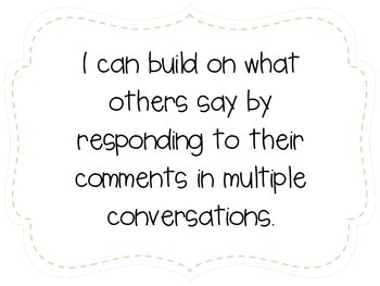 """First Grade """"I Can"""" Statements LAFS & Common Core Speaking & Listening Plain"""