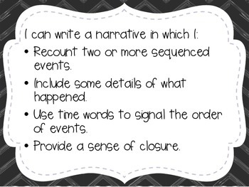 """First Grade """"I Can"""" Statements LAFS & Common Core Writing"""