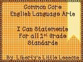 First Grade I Can Statements-Math