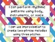 First Grade I Can Statements -- NC Music -- Colorful Basket Weave