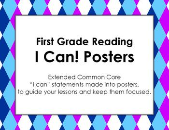 First Grade I Can Statements for Extended Common Core