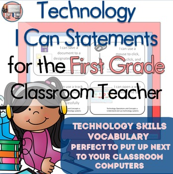 First Grade I Can Statements for Technology Standards- ski