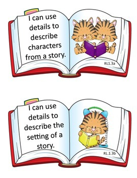"""First Grade """"I Can"""" Statements for the Library Media Center"""
