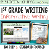 First Grade INFORMATIVE WRITING DIGITAL UNIT for Classroom and Distance Learning