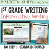 First Grade INFORMATIVE WRITING DIGITAL UNIT for Classroom