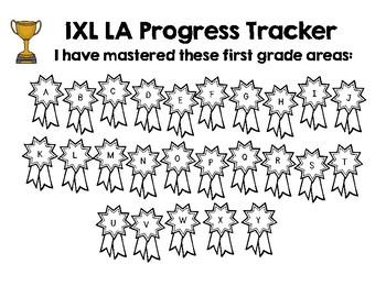 First Grade IXL Language Arts Tracker