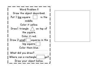First Grade Independent Math Word Problems for Math Journals