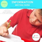 First Grade Information Writing Paper Pack