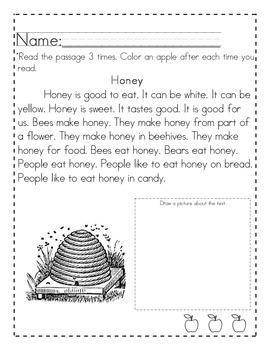 Informational Fluency Passages (Level 1)