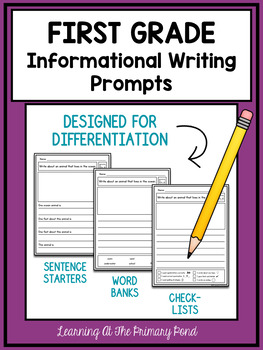 First Grade Informative Writing Teaching Resources Teachers Pay
