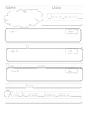 First Grade Informative/Explanatory Writing Graphic Organizer