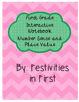 First Grade Interactive Math Notebook: Number Sense and Place Value