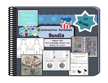 First Grade Interactive Notebook BUNDLE: Core Knowledge