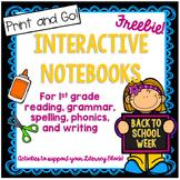 First Grade Interactive Notebook Back to School Week