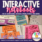 1st Grade Interactive Notebook Unit 1 Bundle: Short Vowels, Grammar, Reading