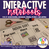 First Grade Interactive Notebook Week 1 Main Idea, Labels,