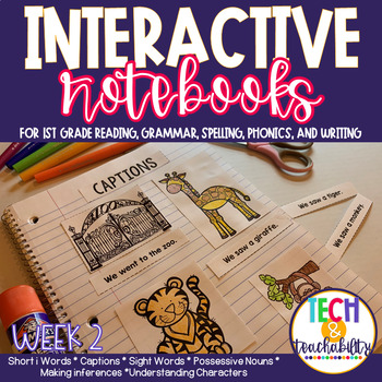 1st Grade Interactive Notebook Week 2 Short i,Characters,P