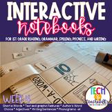 Short E, Text Features, Adjectives Interactive Notebook