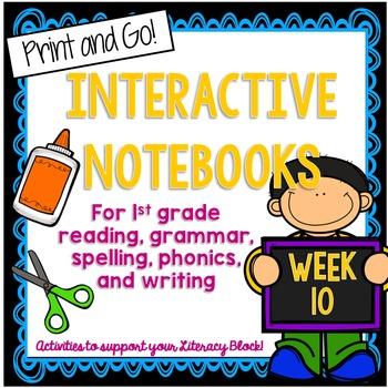 First Grade Interactive Notebook Week 10 Story Structure, Short U, Articles