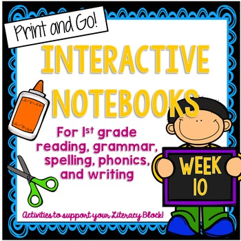 First Grade Interactive Notebook Week 10 Story Structure,
